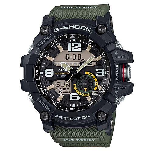 CASIO G-SHOCK GG-1000-1A3防塵泥雙感應器強悍腕錶/綠色55.3mm