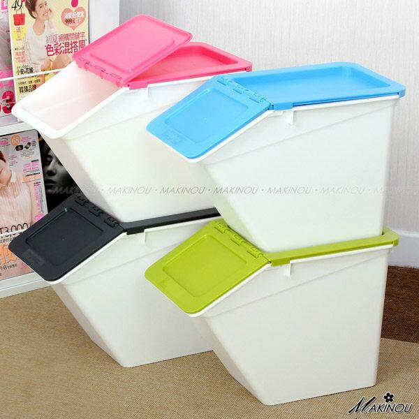 整理箱|日本MAKINOU-斜口可疊收納箱- 0135| 台灣製造塑膠收納箱