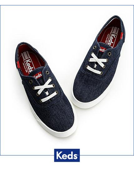 Keds 經典美式休閒帆布鞋(靛藍) 1