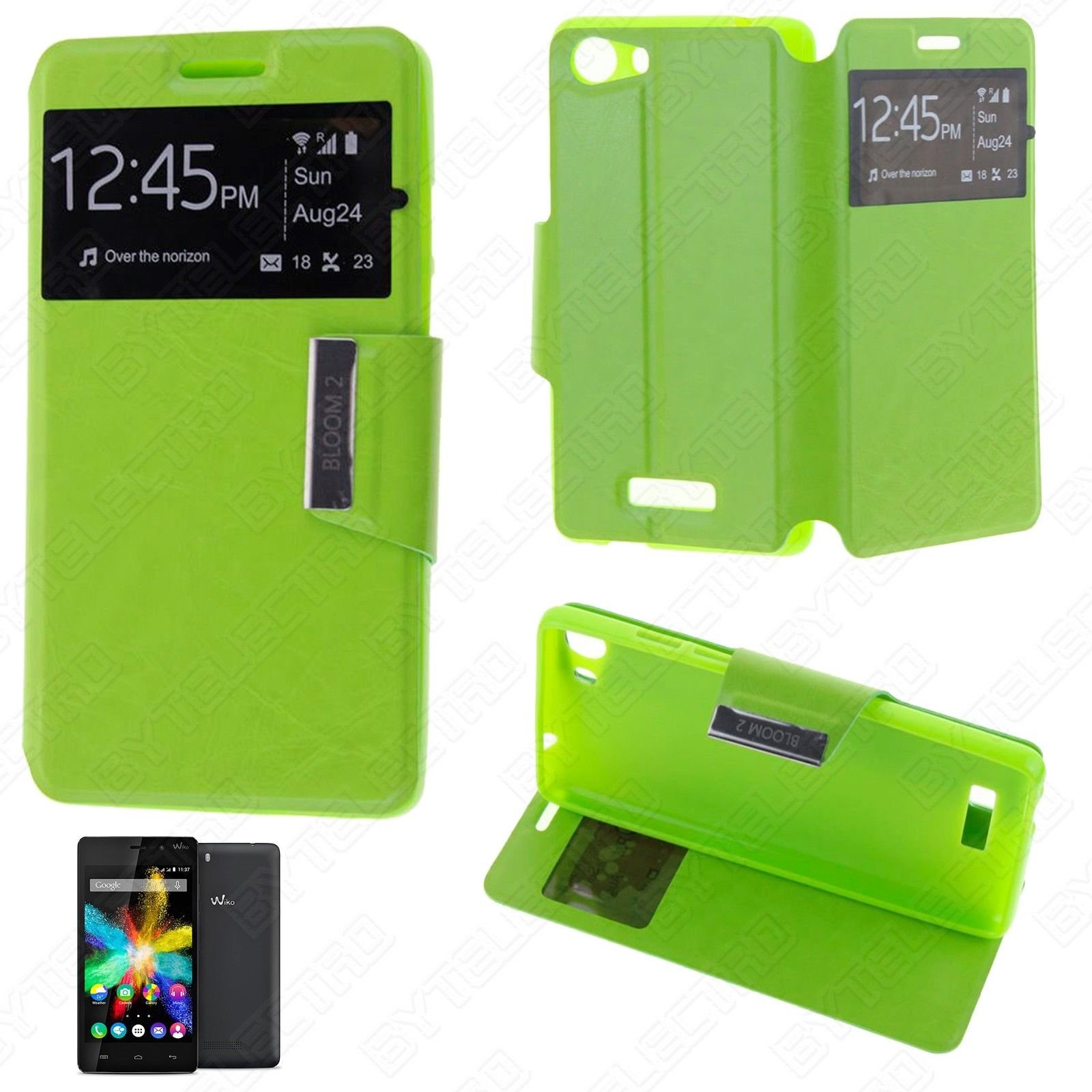Funda Tipo LIBRO VENTANA Stand WIKO BLOOM 2 (Color Opcional) 5
