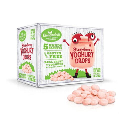 Kiwigarden ~ 草莓優格水滴豆豆 9gx5包 盒