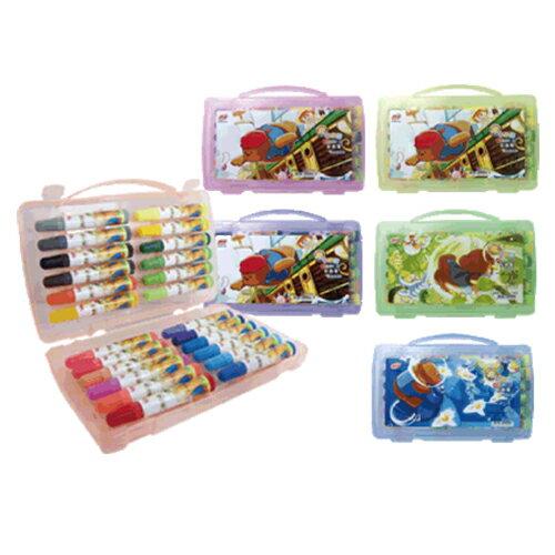 【SKB】 CL-140 彩色筆24色膠盒-外盒圖案隨機出貨