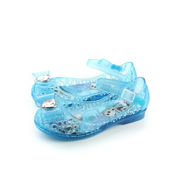 冰雪奇緣 休閒鞋 藍 中童 no550
