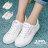 格子舖*【AAY11】基本款百搭時尚簡約 綁帶布面鞋帆布鞋 2色 0