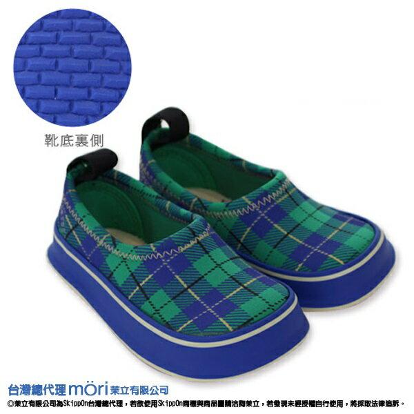 日本熱賣SkippOn幼兒戶外機能鞋-綠格紋