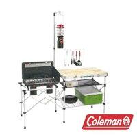 新手露營用品推薦到Coleman 輕便廚房桌 CM-3126J 料理桌 行動廚房 露營