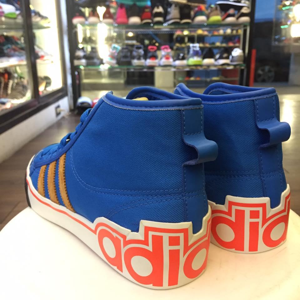 BEETLE ADIDAS NIZZA HI XL 愛迪達 三葉草 高筒 帆布 藍橘 休閒鞋 G50849 US8.5 D-581 2