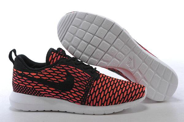 Nike Roshe Run Flyknit 倫敦編織飛線 慢跑鞋 運動鞋 男鞋 梅紅