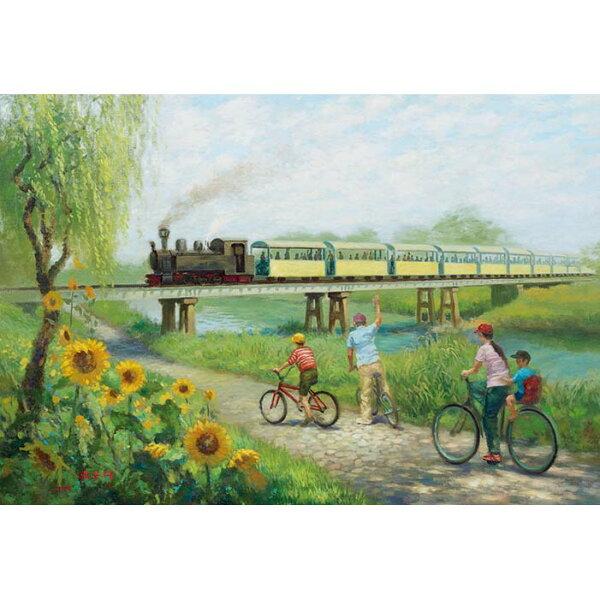 【P2 拼圖】賴英澤油畫系列-舊濁水溪橋(彰化溪湖糖鐵)300片 S3-010