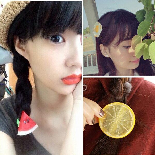 PS Mall 韓版森林系可愛水果檸檬西瓜髮夾 髮帶 髮飾 髮圈 【G1780】