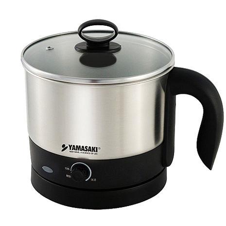 ◤特A級福利出清品‧數量有限◢ YAMASAKI 山崎 1.0L快煮美食鍋 SK-109S ◤內含#304不鏽鋼蒸碗與蒸架◢
