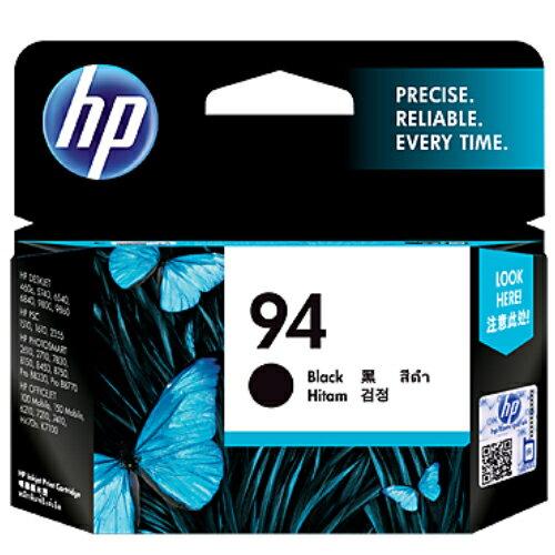 【HP 墨水匣】 C8765WA NO.94 黑色原廠墨水匣