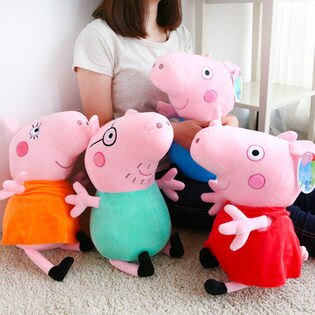 正版 粉紅豬小妹娃娃 35cm 英國粉紅豬 Peppa Pig 佩佩豬 喬治 布偶 玩偶 抱枕 玩具 禮物【N200221】