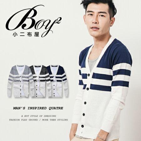 ☆BOY-2☆【NQEB379】韓版刷毛菱形針織外套 0