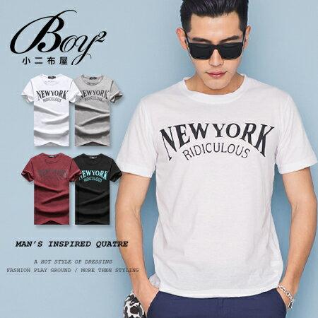 ☆BOY-2☆【OE10603】韓版休閒素面NEW YORK型男短袖T恤 0