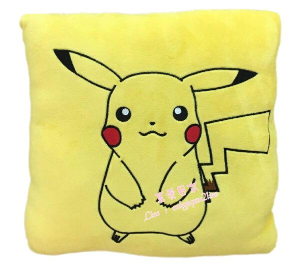 【真愛日本】16081700002方形抱枕-皮卡丘  神奇寶貝 Pokemon   抱枕 娃娃 靠枕