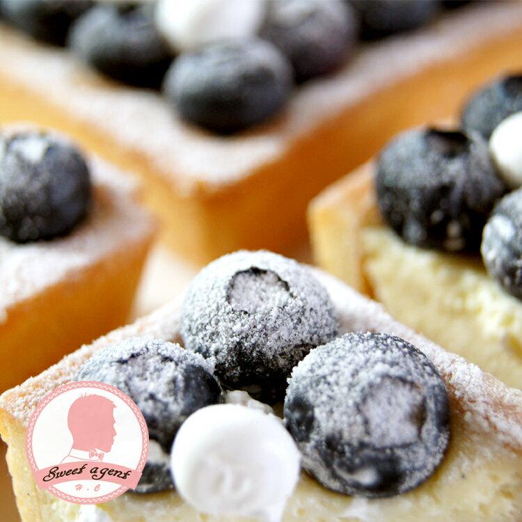 【甜點特務】[ 黑白棋盤藍莓塔 ] 新鮮藍莓+酥脆塔皮+香草卡士達 3