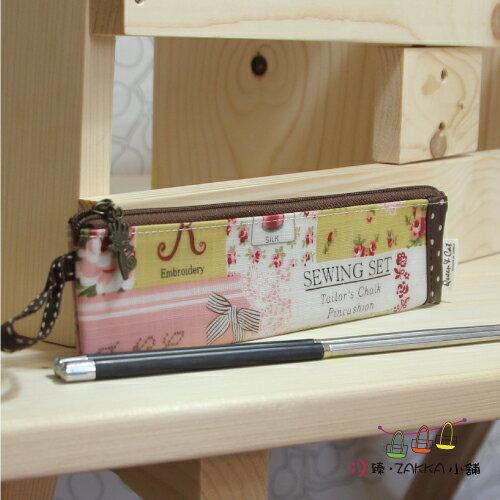 Queen Cat 皇后與貓 -【環保筷子包(短) -拼布小花】*臻ZAKKA小舖*防水包包雜貨