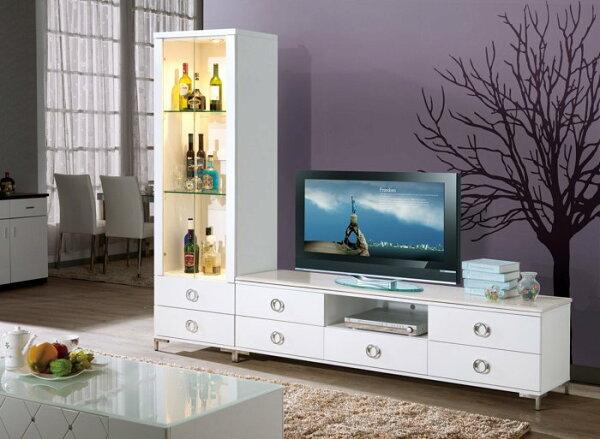 【尚品傢俱】HY-A314-01 凱特白色石面8尺L櫃