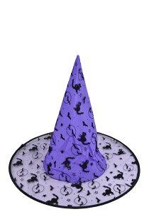 X射線【W405983】植絨尖頂帽(紫),萬聖節/派對/舞會道具/cosplay/角色扮演/巫婆/聖誕節/表演/巫師/園遊會/校慶