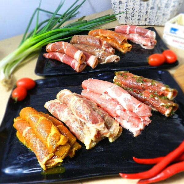 超夯新品【好神】韓式八+醬彩色烤肉組4盒組A