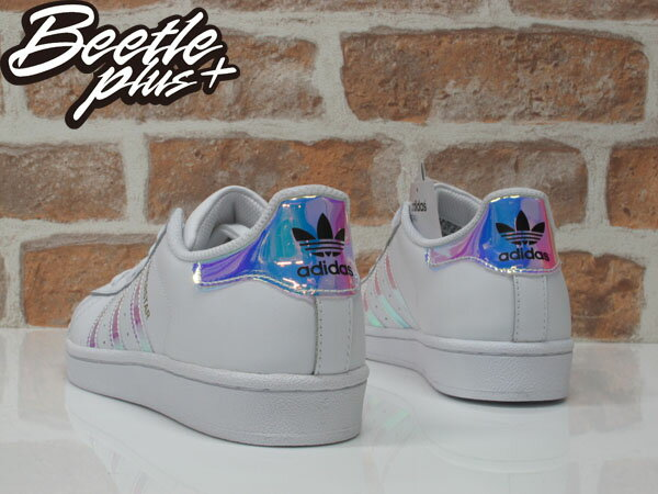 女生 BEETLE ADIDAS SUPERSTAR GRADE SCHOOL 愛迪達 金標 雷射 反光 AQ6278 2
