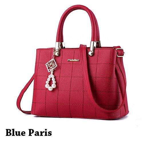 包包 - 立體方格壓線簡約設計三用背包【21552】 藍色巴黎《3色》現貨+預購 0