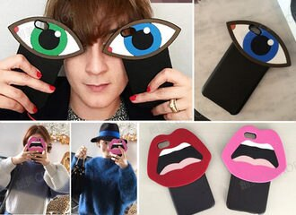 創美[K018] 韓國 正品 YAZBUKEY 嘴唇 大眼 眼睛 造型 立體 IPhone 6 6S plus 手機殼 保護套 保護殼