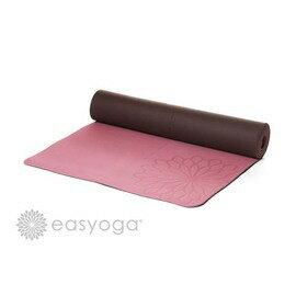 easyoga 瑜珈墊 加長環保瑜珈墊 5mm-粉紅/咖啡