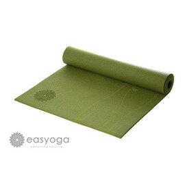 easyoga 瑜珈墊 專業花草瑜珈墊 6mm-綠色