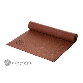 easyoga 瑜珈墊 專業花草瑜珈墊 6mm-咖啡紅