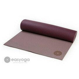 easyoga 瑜珈墊 頂級天然橡膠橘皮瑜珈墊5mm-紫色