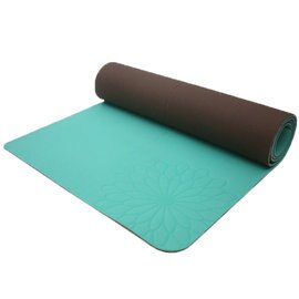 easyoga 瑜珈墊 加長環保瑜珈墊 5mm-綠色/咖啡