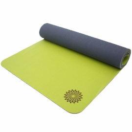 easyoga 瑜珈墊 頂級天然橡膠橘皮瑜珈墊 5mm-綠色
