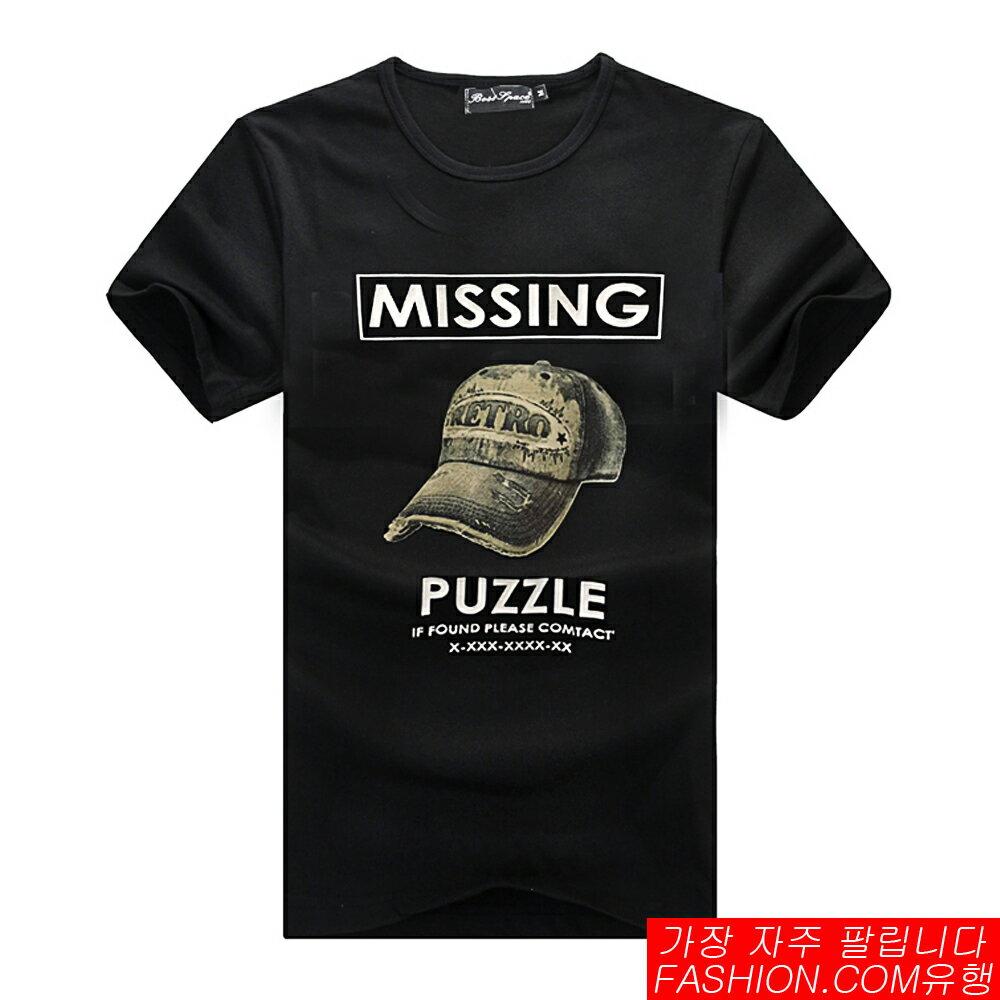 DITION SHOP  棒球帽老帽映像PUZZLE短T 萊卡彈性 0