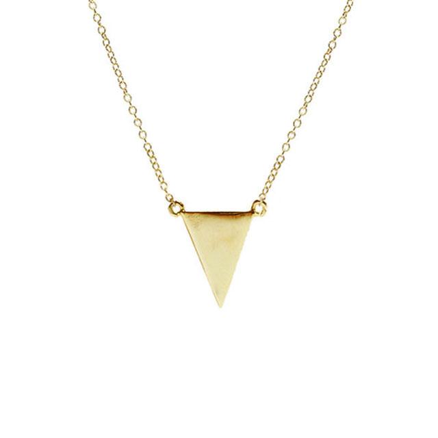 【海外訂購】【Kris Nations】金色幾何三角形手工項鍊(N-Tri-G  0868170000) 0