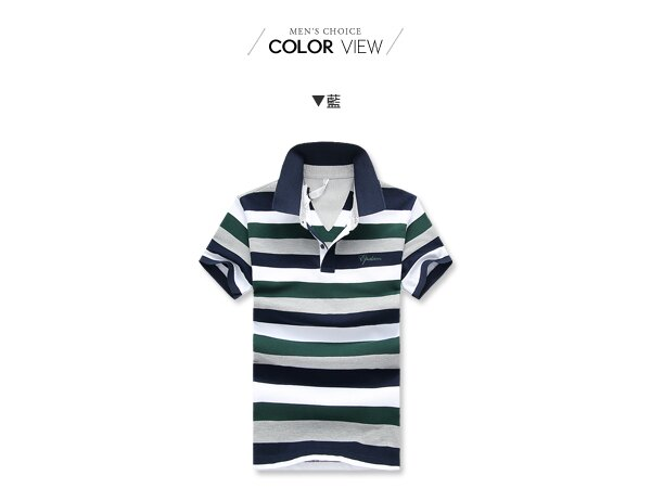 ☆BOY-2☆【NZ93003】美式休閒滿版男裝條紋POLO衫 1