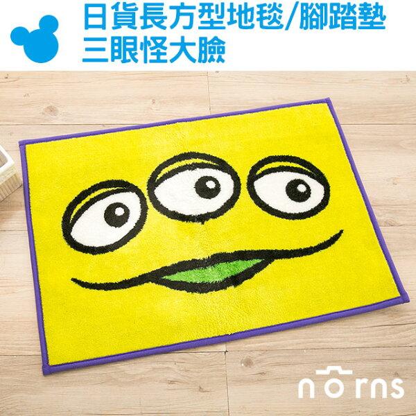 NORNS 【日貨長方型地毯/腳踏墊 三眼怪大臉】三眼怪 地墊 卡通 踏墊 米老鼠 disney