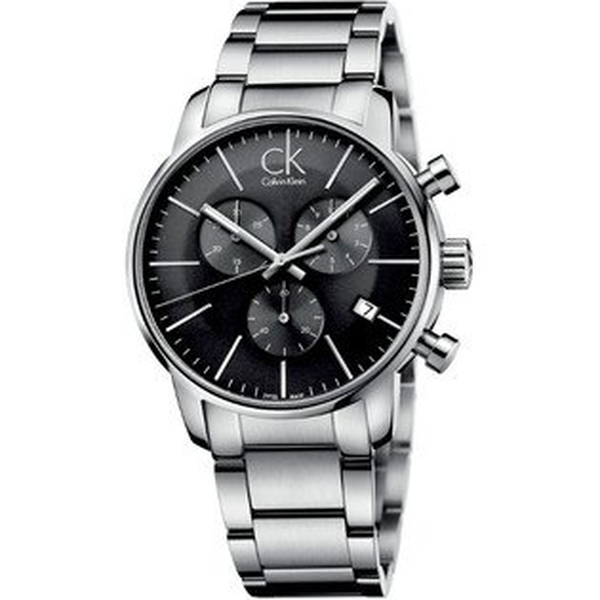 CK 都會系列(K2G27143)都會時尚計時腕錶/黑面43mm