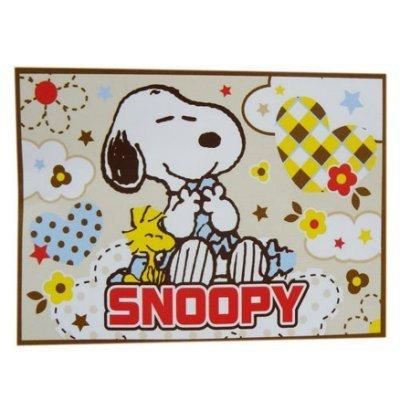 【真愛日本】13011700026 車用刷毛毯--米 史奴比 史努比 SNOOPY 冷氣毯 懶人毯 正品