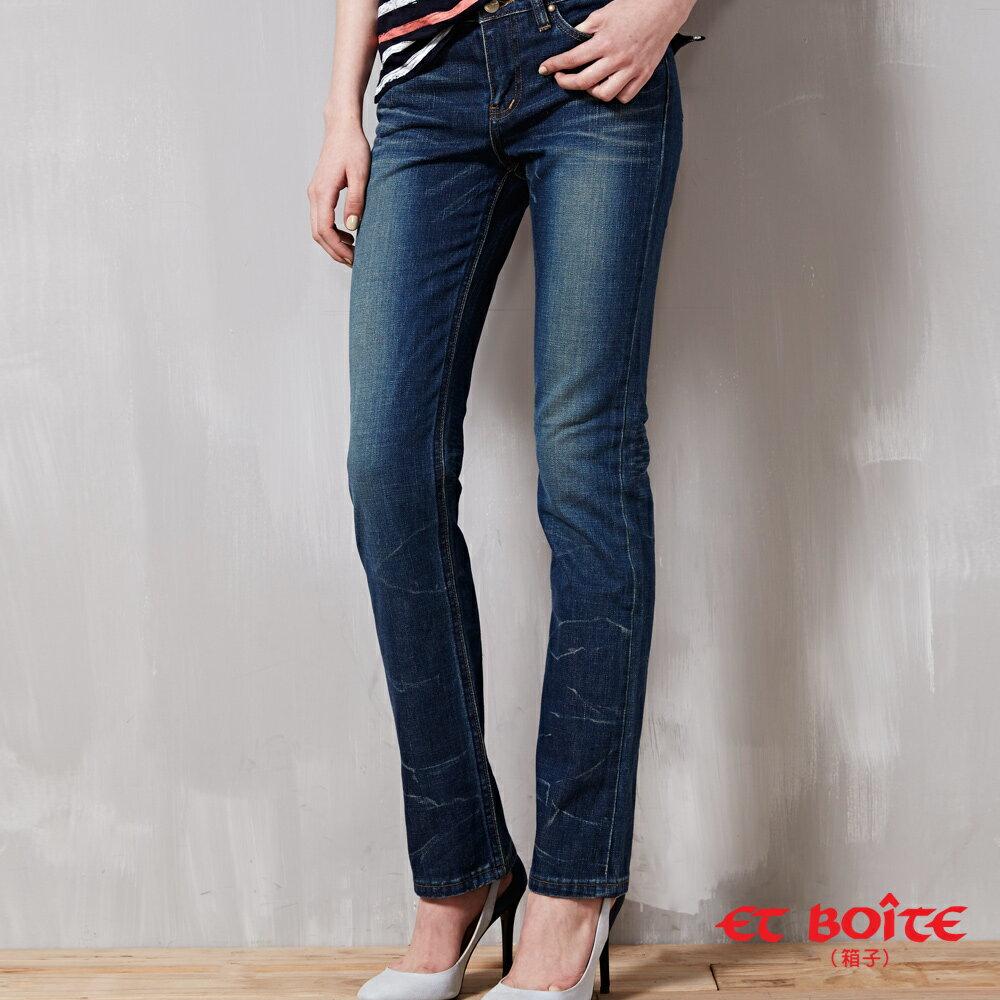 (限時$990)【ET BOîTE 箱子】窄直筒折痕低腰褲 - 限時優惠好康折扣