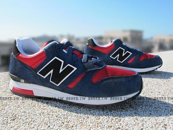 [27.5cm]《超值6折》Shoestw【ML565AAA】NEW BALANCE NB565 復古慢跑鞋 藍紅 男款