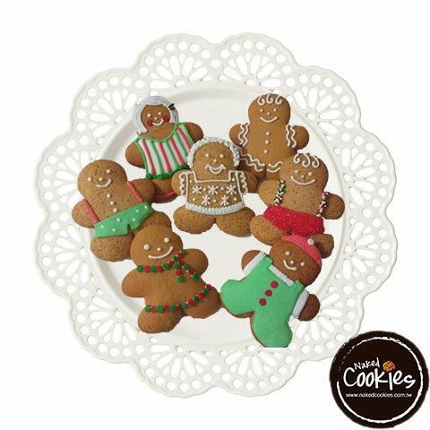 【裸餅乾Naked Cookies】聖誕節6入-創意手工糖霜餅乾,婚禮小物/生日/活動/收涎/彌月