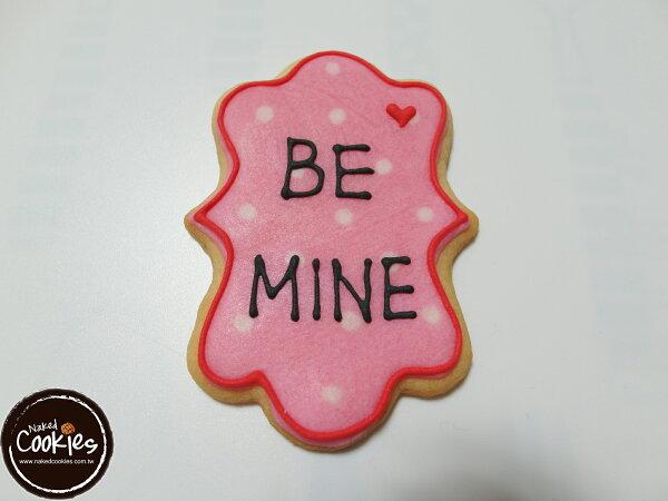 【裸餅乾Naked Cookies】BE MINE情人節6入-創意手工糖霜餅乾,婚禮/生日/活動/收涎/彌月