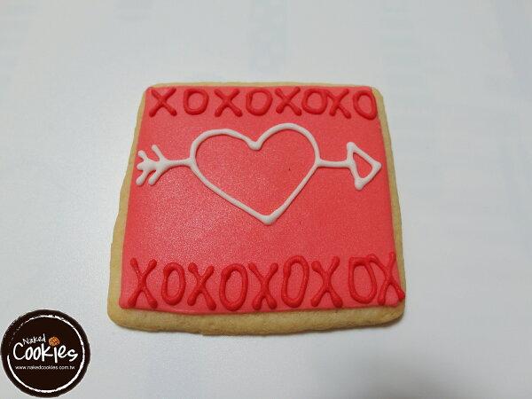 【裸餅乾Naked Cookies】情人節6入-創意手工糖霜餅乾,婚禮/生日/活動/收涎/彌月