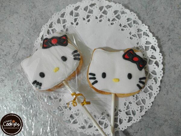 【裸餅乾Naked Cookies】Kitty主題-特殊客製6入-創意手工糖霜餅乾,婚禮/生日/活動/收涎/彌月