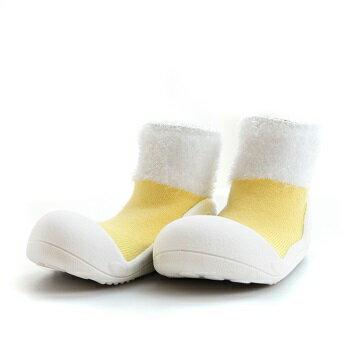【本月特價$599】韓國【Attipas】快樂腳襪型學步鞋-馬卡龍系列(黃) - 限時優惠好康折扣