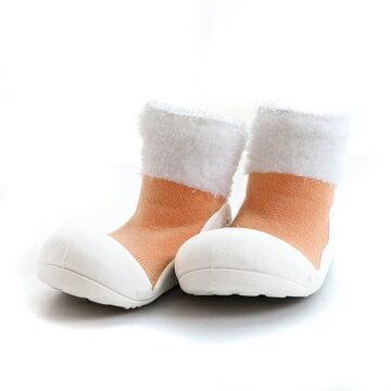 【本月特價$599】韓國【Attipas】快樂腳襪型學步鞋-馬卡龍系列(橘) - 限時優惠好康折扣