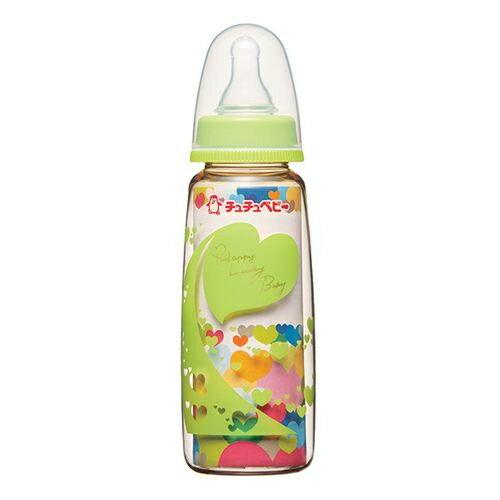 日本【chu chu 啾啾】標準口徑PPSU奶瓶240ml  (綠) - 限時優惠好康折扣