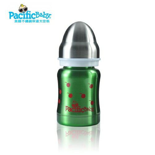 美國【PacificBaby】不鏽鋼保溫太空瓶120ml(健康綠) 0